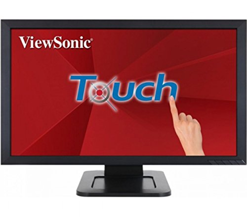 ViewSonic TD2421 24-inch Full HD Dual-Point Optical Touch LED Monitor (1920x1080 Scratch Resistant Surface VGA DVI HDMI USB Speakers) - Black