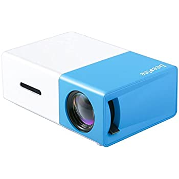 Mini projector deeplee portable led projector home for Portable projector with hdmi input