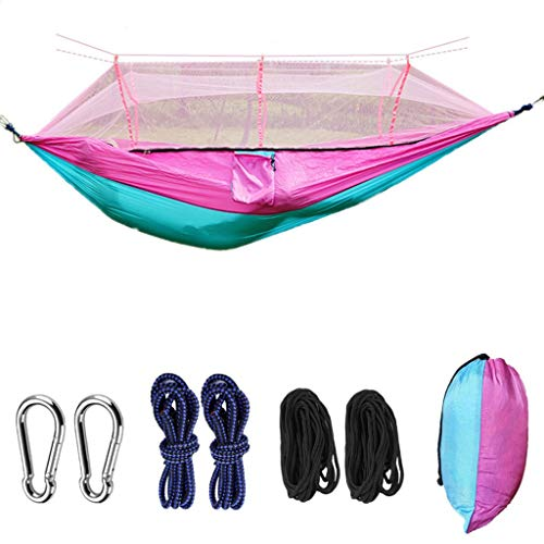 ME- Hamac, hamac Double de Camping avec moustiquaire/moustiquaire, hamac en Nylon portatif pour Le Camping, la Survie, Les Voyages et Plus