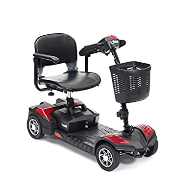 Drive Scout Class 2 Portable 4 Wheel Mobility Scooter 20 AMP Batteries - Red