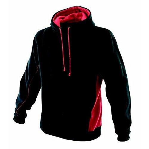 Finden & Hales Sweat à capuche pour enfants - Black/Red - 1112