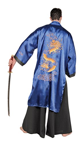 Samurai Blue Full Length Costume Robe Standard