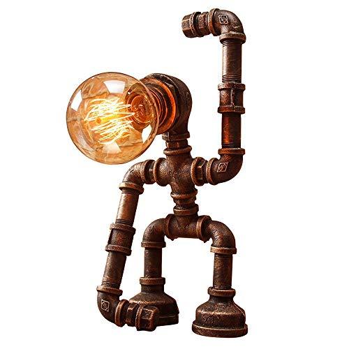Kreative Persönlichkeit Roboter Schlauch Tischlampe Retro Nostalgische Eisen Kunst Desktop Leuchte Bar Geburtstagsgeschenk Dekorative Schreibtisch Licht Nachtlaterne