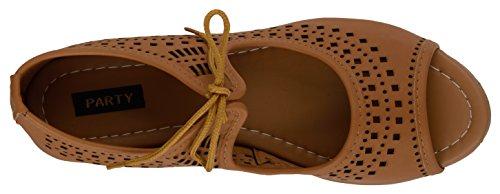 VAGON Women's Suede Leather Block Heel Sandals