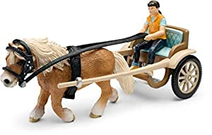 Schleich 42040Pony Carriage with Horse, 20,1 x 17,5 x 11,4 cm