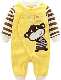 Minizone Recién Nacido Pijama Bebés Algodón Mameluco Niñas Niños Peleles Sleepsuit Caricatura Trajes