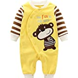 Baby Rompers Cotton Onsises Boys Girls Long Sleeve Sleepsuit Coveralls Cartoon Outfits