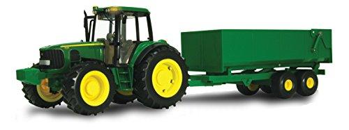 TOMY ERTL John Deere Big Farm Traktor mit Wagon