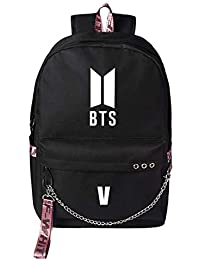 Wookit Unisex BTS Mochilas Lona Kpop Mochila Daypacks informal Bolsa para  portátil Bolsa de viaje para 7b09fd695a948