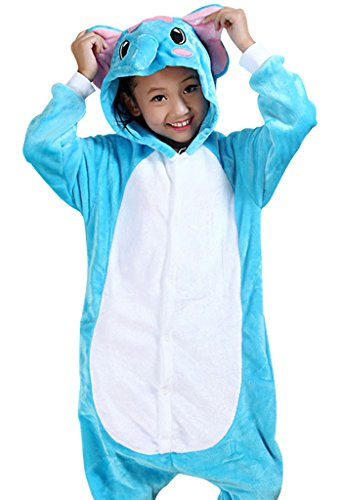 KSFJV Kinder Anime Cosplay Halloween Kostüm,Elefant,95cm (Genial Kostüme Für Jungen)