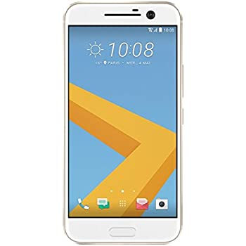 HTC 10 32GB - Smartphone de 5.2'' (Android 6, 12 MP, RAM de 4 GB, Qualcomm Snapdragon 820 ), color oro (Topaz Gold)