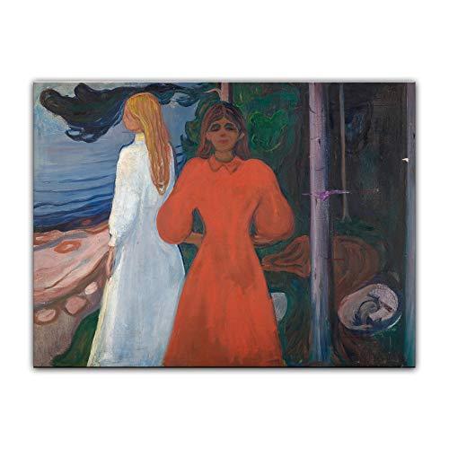 Kostüm Expressionistische - Bild ohne Rahmen - Edvard Munch Red and White 40x30cm ca. A3 - Kunstdruck Poster Alte Meister