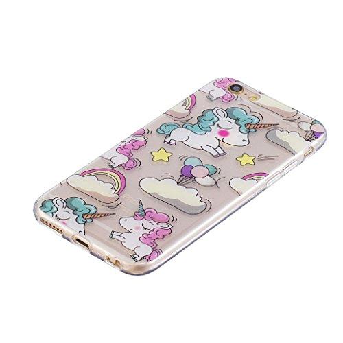 Cover iPhone 6 Plus / iPhone 6S Plus , YIGA unicorno palloncino Cristallo Trasparente Silicone Morbido Case Molle TPU Shell Caso Protezione Custodia per Apple iPhone 6 Plus / iPhone 6S Plus (5.5) WM111
