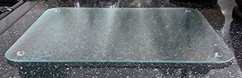 Premium Glas Schneidebrett–Glas satiniert klar groß Arbeitsflächenschutz