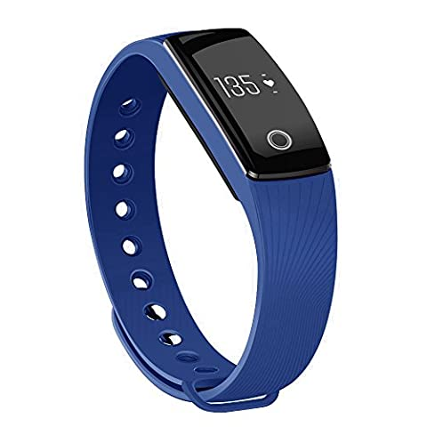 moreFit H6 Fitness Tracker with Heart Rate Monitor, Wireless Bluetooth Touch Screen Smart Watch Healthy Wristband, Blue by moreFit