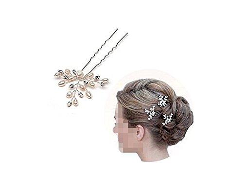 (Musuntas 3 Stk.Fashion Retro elegant Damen Perlen Strass Hochzeit Brautschmuck Braut Haarschmuck Strass Haarklammer)