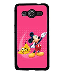 printtech Mickey Mouse Pluto Disney Back Case Cover for Samsung Galaxy Core 2 G355H