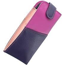 Mala Leather Étui à Lunettes en Cuir Nappa Souple et Mince avec Fermeture Languette 5104_14m Rosé N1Kaf