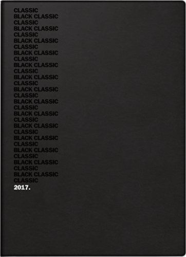 Preisvergleich Produktbild Brunnen 107346006 Taschenkalender Modell 734 Black Classic, 1 Seite = 2 Tage, 100 x 140 mm, Balacron-Einband bedruckt schwarz, Kalendarium 2017