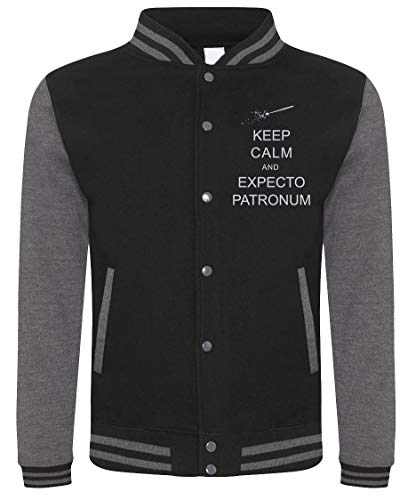 Felpa college harry potter - keep calm and expecto patronum - incantesimo - idea regalo - in cotone