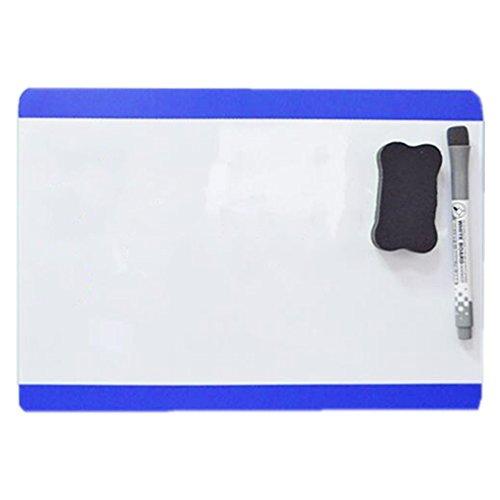 Magnetische trocken abwischbare Whiteboard Tabelle für Küche Kühlschrank Kühlschrank Board & Erinnerungen Einschließlich Mit Marker Stift und Radiergummi Blau