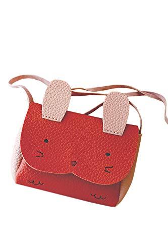 Jumojufol Wurf Mädchen Harper Crossbody Tasche Süßen Hasen Print Brieftasche Handtasche rot One Size