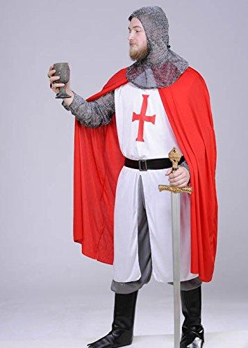 Erwachsene mittelalterlichen Templer Ritter Kostüm Medium (37-40