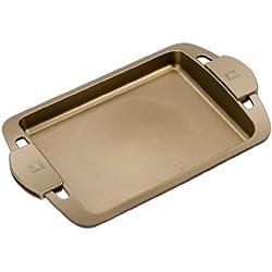 BRA Terra - Plancha asador Liso y Asas de Silicona,Aluminio Fundido con Antiadherente Teflon Select, aptas para Todo Tipo de cocinas incluida inducción, Terra 40 cm