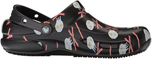 Crocs Bistro Graphic Clog, Sabots Mixte Adulte Noir (Black/white)