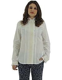 Max Mara Weekend Tropico Camicia Donna in Cotone Collo alla Coreana Made in  Italy 0a2e81aadba
