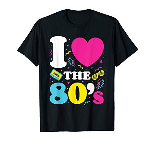 Meeräsche Kostüm - I Love the 80s 80er Jahre 1980er Jahre Kostüm T-Shirt