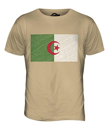CandyMix Algerien Kritzelte Flagge Herren T Shirt Sand