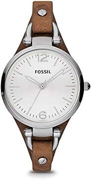ساعة فوسيل جورجيا ميني للنساء بسوار جلدي