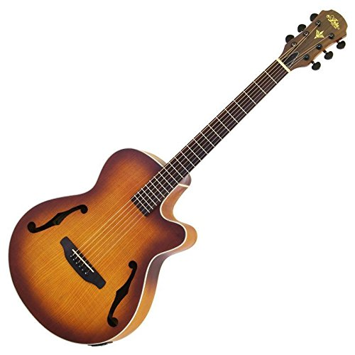 Aria fet-f1LVS Elecord Elektroakustische Gitarre, Light Vintage Sunburst