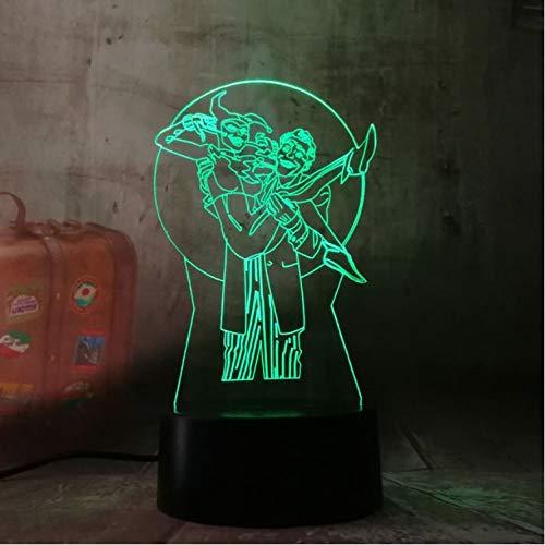Klsoo Coole Neue 3D Led Joker Harley Quinn Nachtlichter Schreibtisch Tischlampe 7 Farbwechsel Taschenlampe Usb Spielzeug Kinder Geschenk Dekor