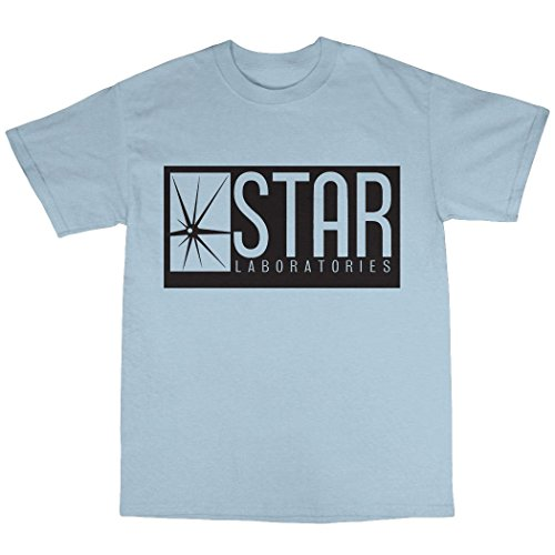 Star Laboratories T-Shirt 100% Baumwolle Hellblau