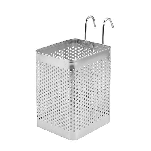 Cubertería soporte, bluesees palillos de acero inoxidable utensilios de cocina escurridor de la cesta ganchos cuadrado de almacenamiento soporte para cuchara cuchillo tenedor Caso organizerzer