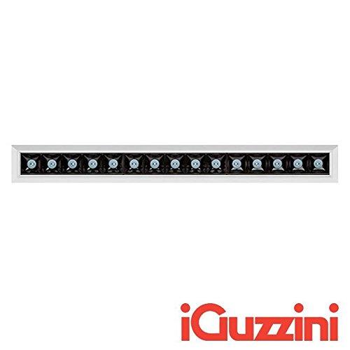 31 Schwarz Led (Iguzzini mk57Laser Blade eingebaut LED 31W 3000K 2760lm Dimmer grau schwarz)