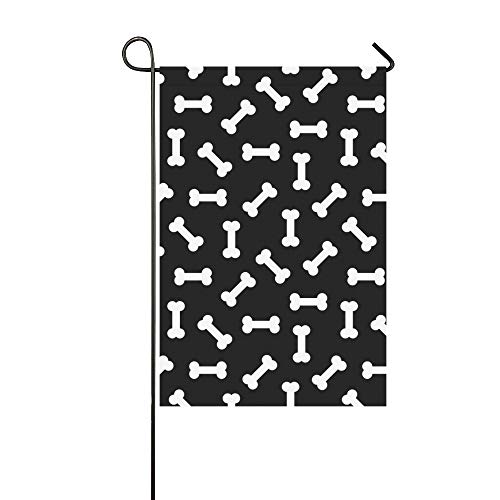 JOCHUAN Wohnkultur Schwarz Weiß Halloween Garten Flaghouse Yard Flaggarden Yard Decorationsseasonal Willkommen Outdoor Flagge 12X18 Zoll (Halloween Fenster Silhouetten Muster)