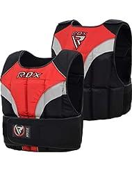 RDX Gym Chaleco Lastrado De 20 KG Weighted Vest Pesas Entrenamiento para Ajustable Chalecos Correr y