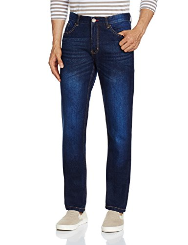 Newport Men's Slim Fit Jeans (8907542142958_269262919_32W x 32L_Blue Dark Stone)  available at amazon for Rs.749