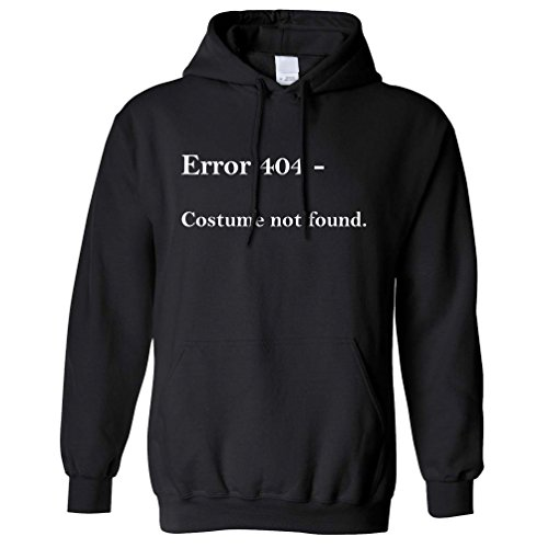 Error 404 Halloween Printed Slogan Zitat Design Premium-Qualität Kapuzenpullover (404 Halloween Kostüm)