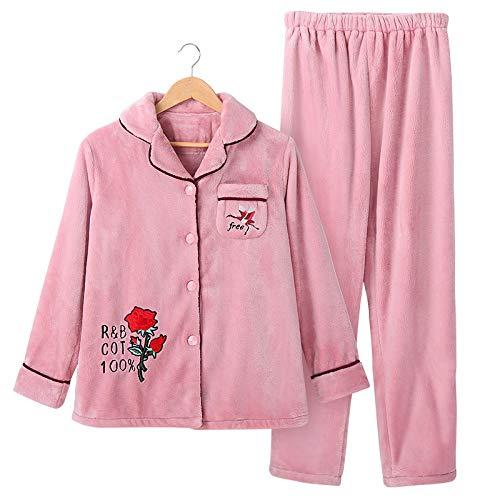 Yshuiyi Pyjamas Coral Fleece Pyjamas Frauen Herbst Und Winter Dicke Warme Langärmelige Flanell Hause Service Anzug