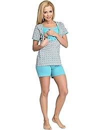 Be Mammy Mujer Lactancia Pijamas Dos Piezas Mathilde