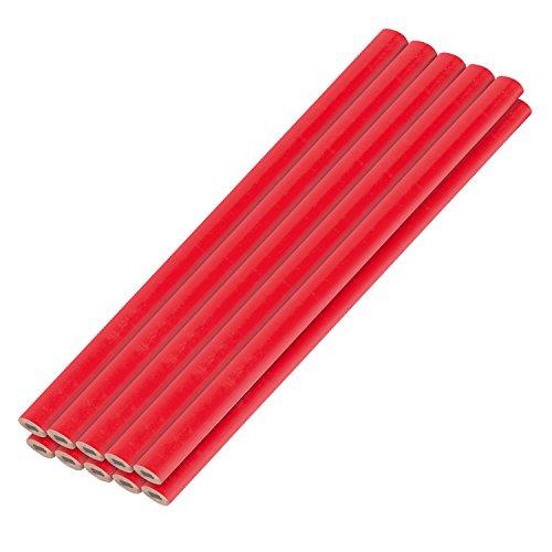 Kreator Bleistifte 10 Stück Grahphitstift Tischlerbleistift je 177 mm - Holz