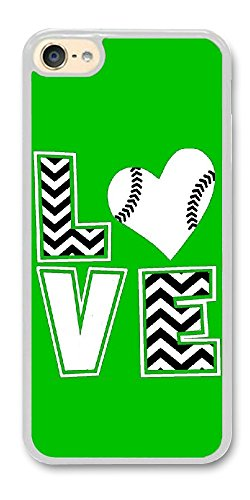 Personalize ipod Touch 6 Cases - Chevron Love Baseball mom Football Hard Plastic Phone Cell Case for ipod Touch 6
