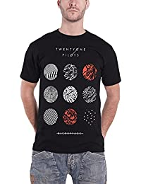 Twenty One Pilots 21 T Shirt Blurryface Pattern Circles Official Mens Black