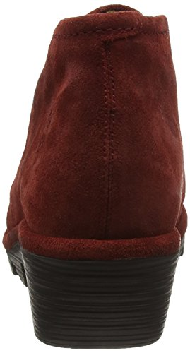 FLY London  Pert, Bottes Desert courtes, doublure froide femme Rouge  (Wine 048)