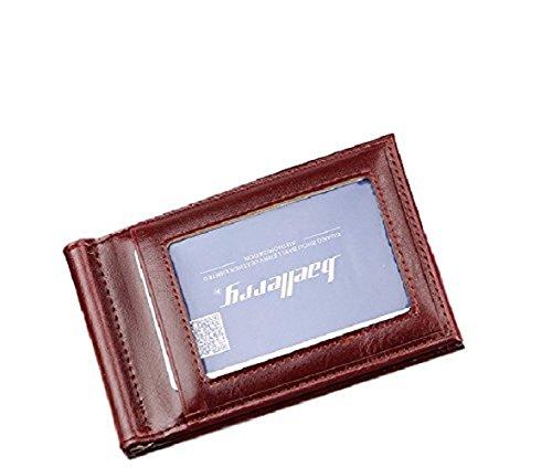 Ducomi Rodrigo - Portafoglio con Clip Fermasoldi per Contanti in Ecopelle con Tasca Frontale in Evidenza e Scomparto per Monete - 11,5 x 7,5 x 1 cm (Brown)