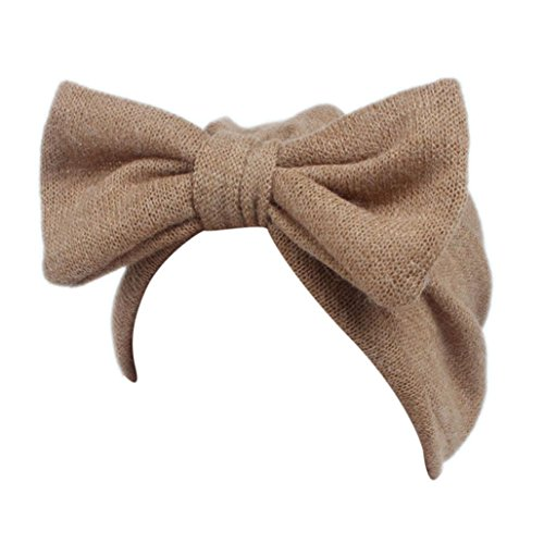 Baby Mütze Clode® Kinder Baby Mädchen Boho Hut Beanie Schal Turban Kopf Wrap Cap (Khaki)